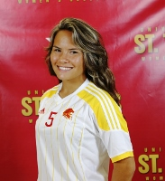 UST Freshman Alette Taylor earned the distiniction of scoring the first goal in UST's program history.