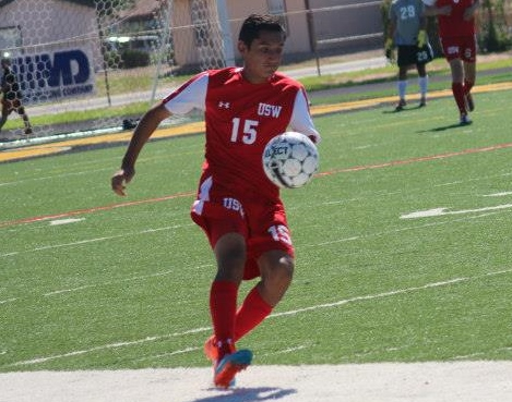 USW's Edrian Negrete scored four goals in a conference match last week.