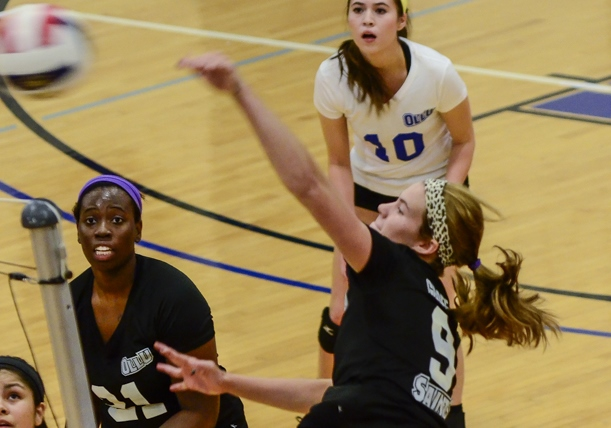 OLLU's Kendall Groff (#9) helped the Saints push UTB to the limit last week.