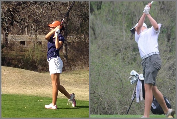 Veronika Vasquez of UT-Brownsville (left) and Christopher Schriedel of Our Lady of the Lake.