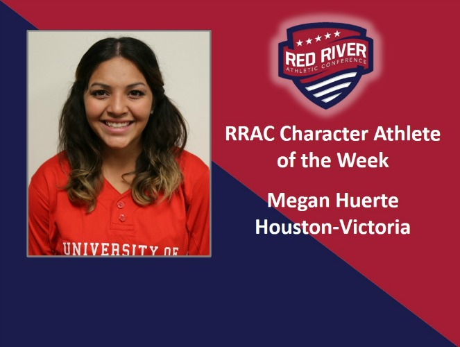 Two-sport student-athlete Megan Huerta has been a strong leader on the Houston-Victoria campus despite a pair of ACL knee sur