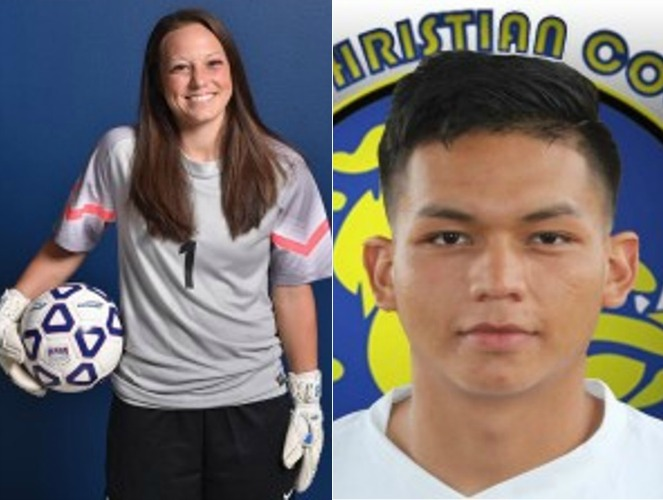 OLLU's Madison Raines and JCC's Jose Mata are recognized for their commitment to the classroom, leadership, their teams and t