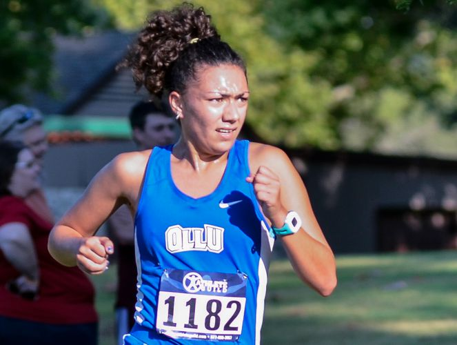 OLLU's Sarah Taylor finished sixth against non-NCAA Division I runners last week.