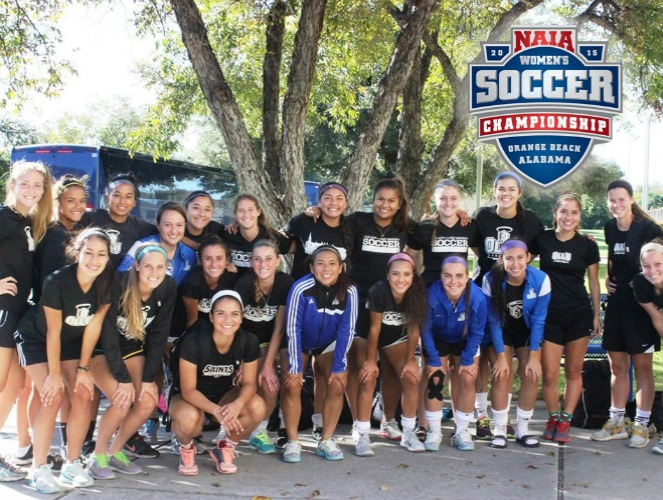 OLLU's women's soccer team is ready to hit the road for the NAIA national tournament.