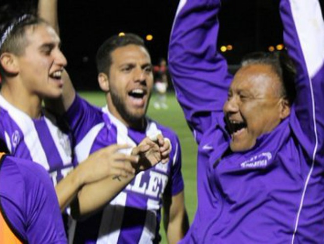 Head Coach Demetrio Hernandez and the Wildcats were euphoric after Wiley's upset of St. Thomas.