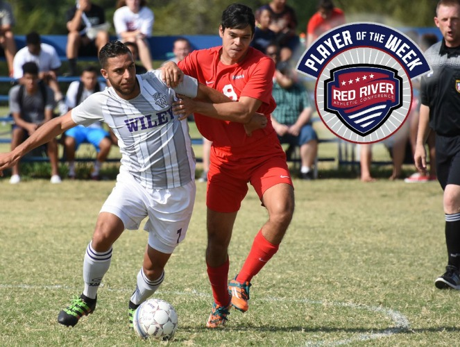 Abdallah Rayyan scored three of Wiley's four goals to defeat Texas Wesleyan.