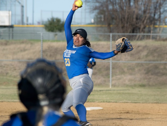Alejandra Salazar pitched a shutout against Grambling in her second start of the season.