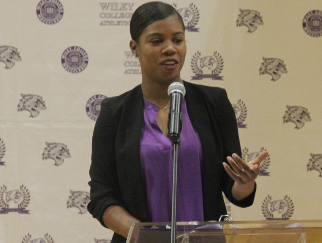Photo for Wiley introduces McGee as Wildcats' Women's Basketball Head Coach