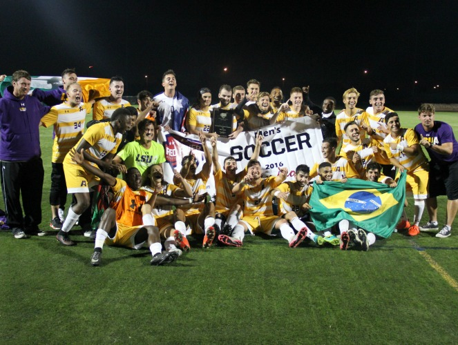 LSUA snared its first RRAC men's soccer championship.