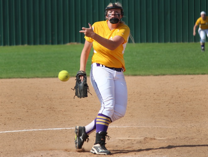 Madison Resch tossed the first perfect game in LSUA history.