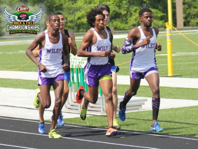 Wiley's Laban Kandie, Marbeq Edgar and Shevan Parks (L-R) finished 1-2-3 in the 3K and 5K.