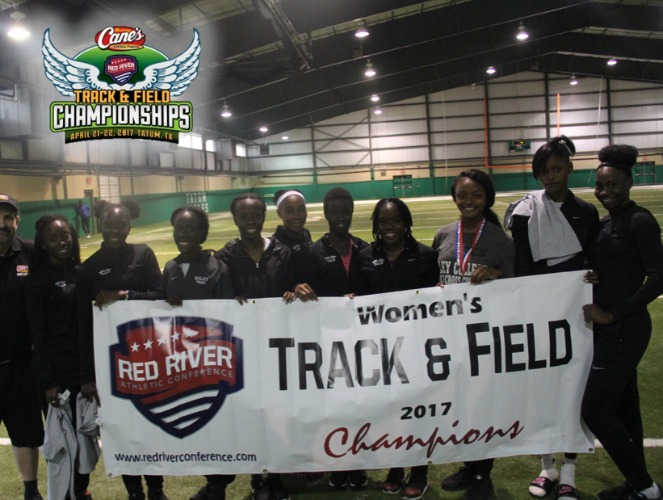 Wiley's women's track & field team earned a three-peat in the RRAC meet.