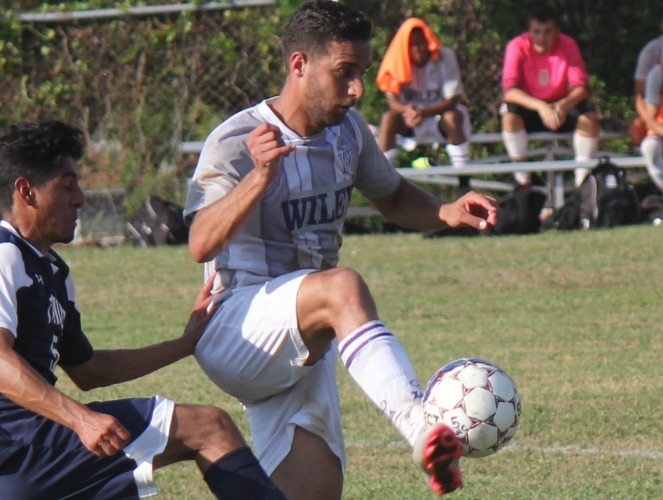 Wiley's Abdallah Rayyan collected his third career hat trick last week.