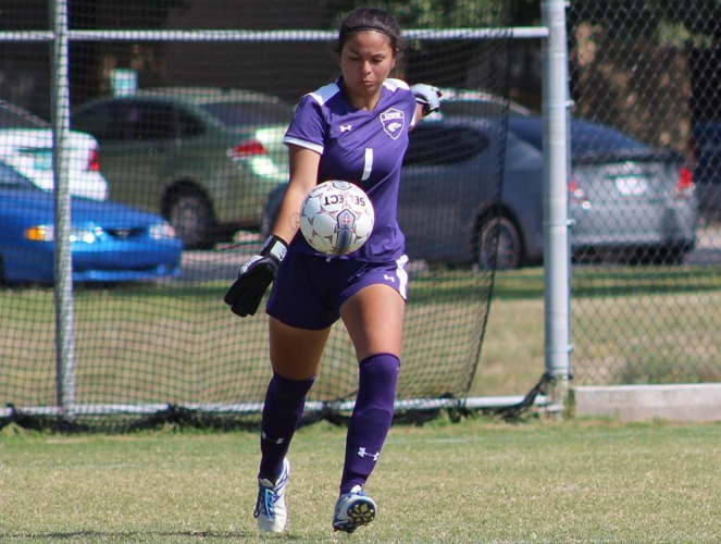 Brittany Garrido has yet to allow a goal against the Mustangs this season.