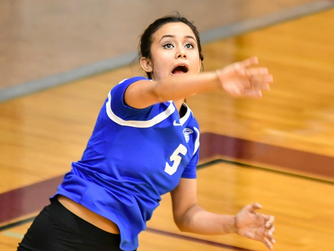 Marina Martinez posted 35 digs in two matches to start the season for the Saints.
