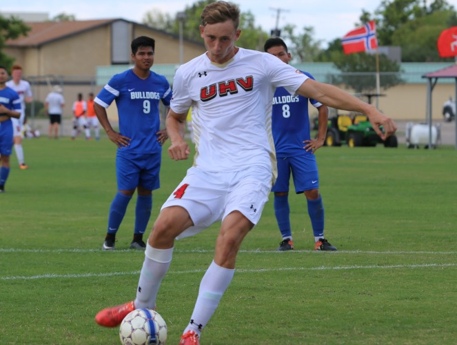 UHV's Reece Hannigan scored two goals and helped shutout two opponents.